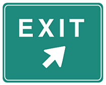 highway exit sign