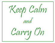 quote: keep calm and carry on