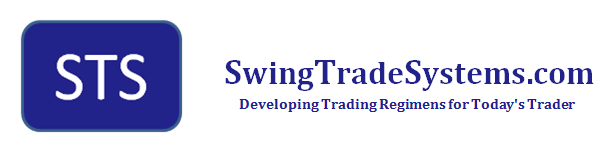 SwingTradeSystems.com logo with slogan 'Developing Trading Regimens for Today's Trader'